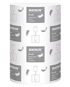 Katrin plus S mini rol zonder koker 1 laags celstof 20.5 cm x 110 m 12 rol in karton 36 colli / pallet